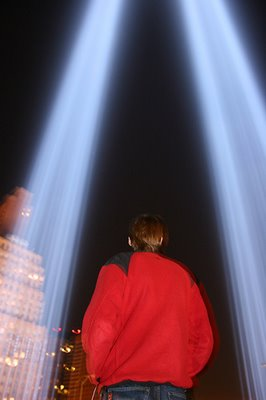 world trade center lights fifth anniversary