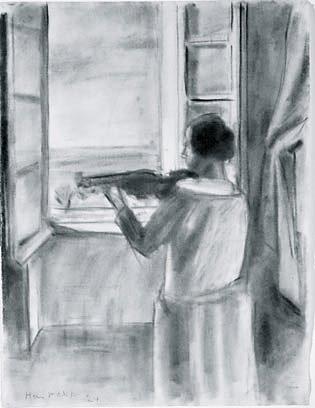 Henri matisse la violiniste a la fen tre the violinist for Henri matisse fenetre