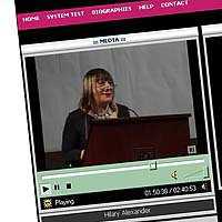 Screenshot of Inside Out webcast from www.rigb.org, showing speaker Hilary Alexander