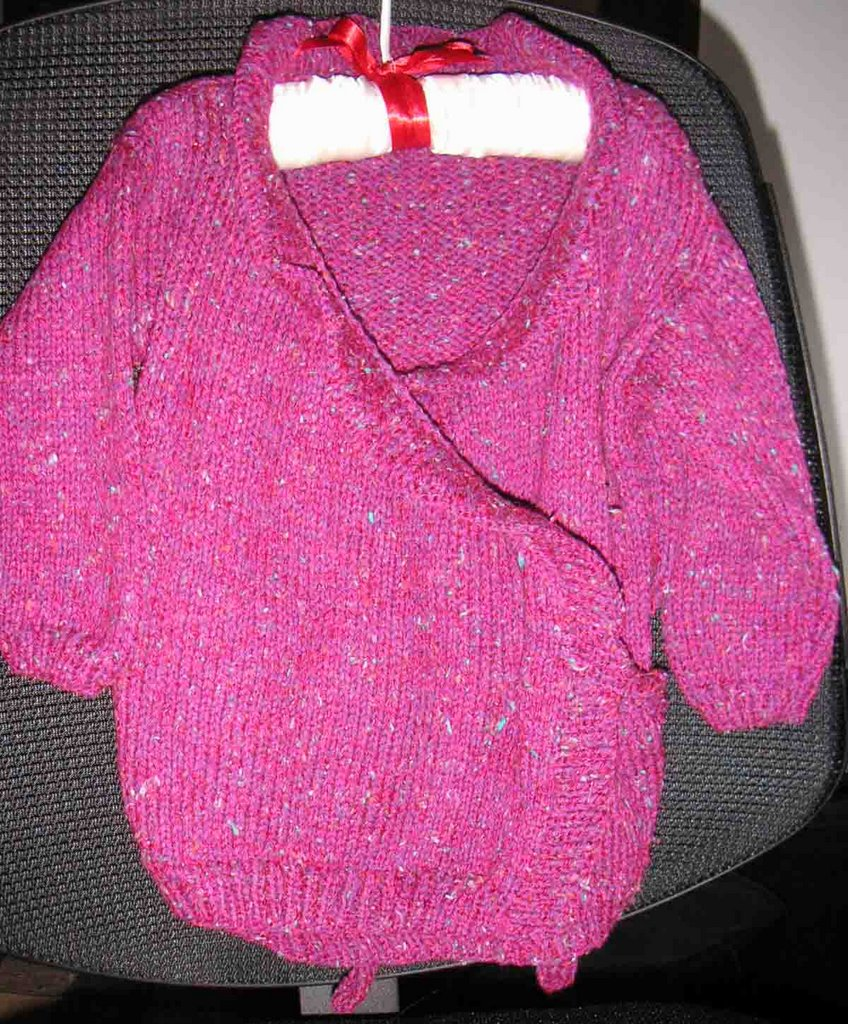 baby wrap sweater