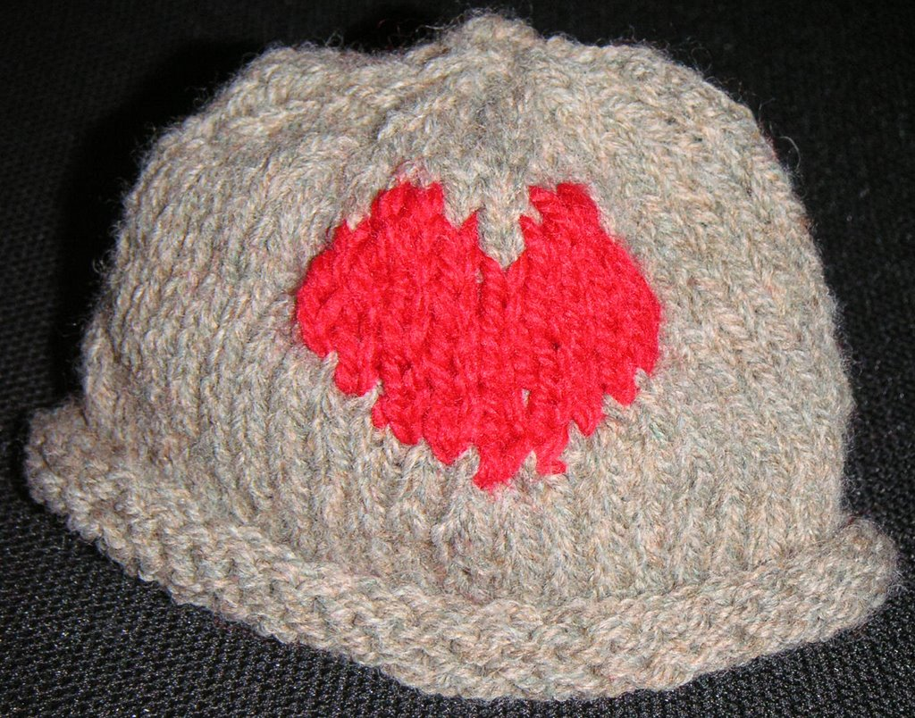 red heart hat