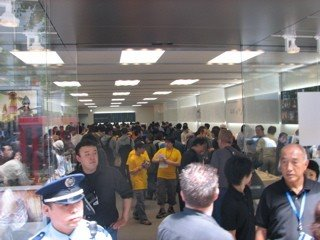 Crowd at Sapporo Apple Grand Opening