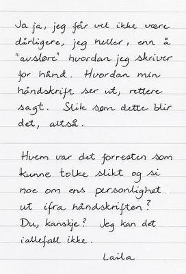 Min håndskrift