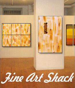 Highly Textured Abstract Paintings by Lar Shackelford