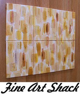 Abstract Painting by Lar Shackelford of Fine Art Shack