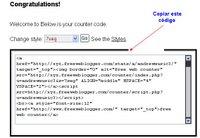 Tu pagina web vista por todo internet Contar2