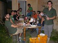 Cena Erasmus en apartamento Erasmus español