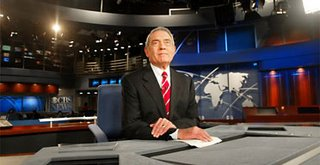 Dan Rather en el estudio de televisión
