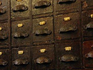 Viejo archivo de un gabinete