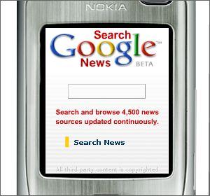 Búsqueda de noticias por el móvil