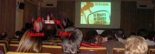 Haciendo el rídiculo en el escenario...