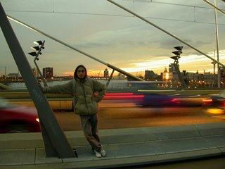 Atardecer en uno de los puentes de Rotterdam