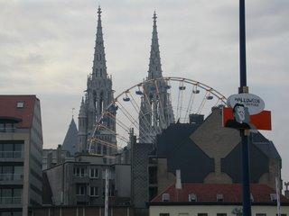 Halloween en Ostende, ciudad costera de Belgica...