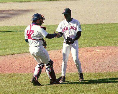 Varitek and Pedro