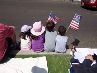 Kids at the parade