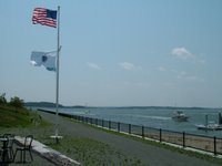 Spectacle Island from the activity center, copyright 2006 by Borderline