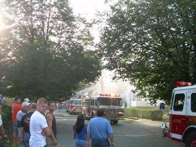 Dana Road fire, August 10, 2006