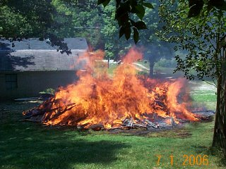 The henhouse is engulfed in flames!