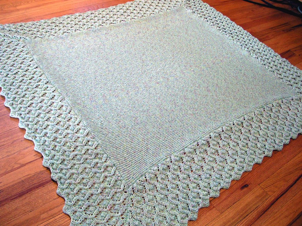 Knitting Patterns Cotton Yarn : Pegs & Needles: Needle Knit Baby Blanket - 100% finished