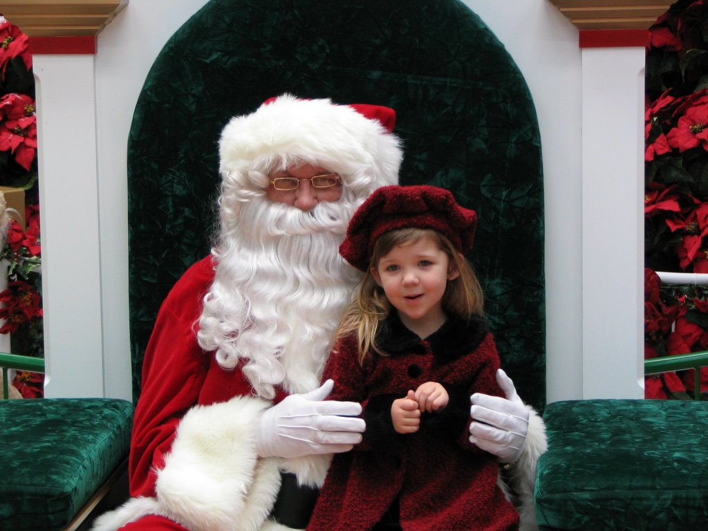 Hannah and Santa Claus, 2005