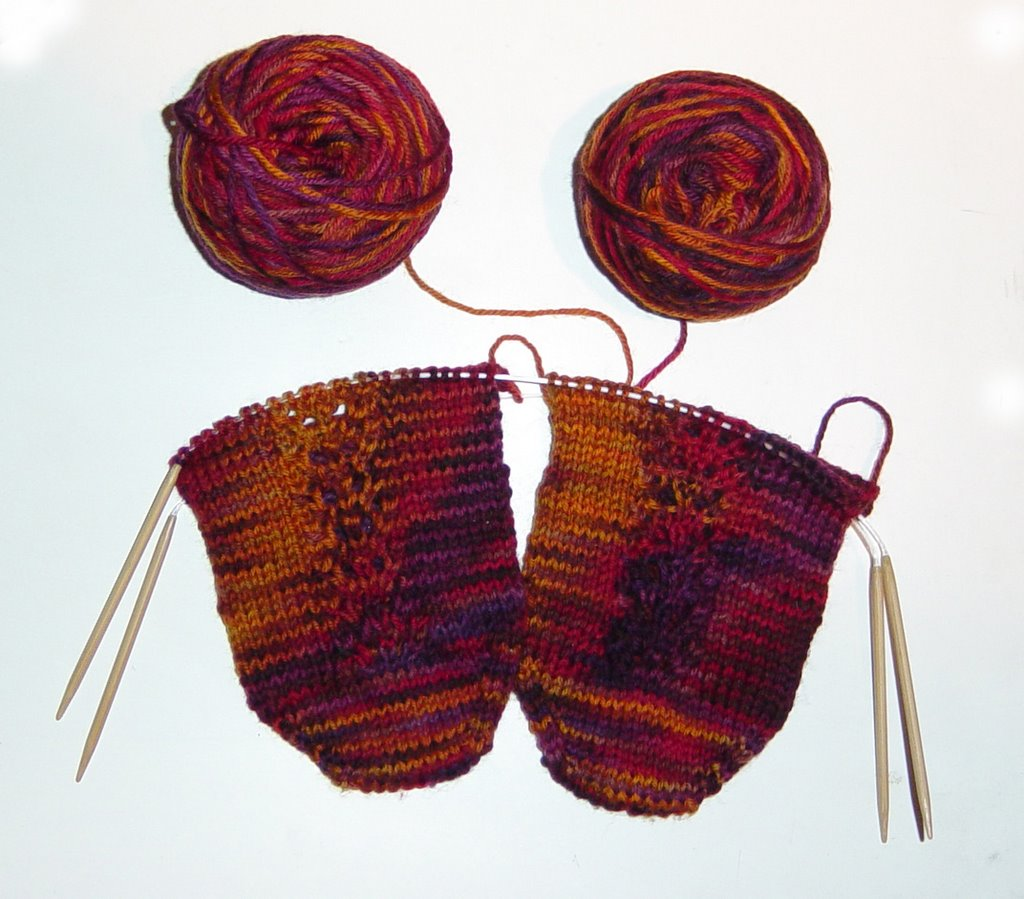 Judy Coates Perez: 2 socks on 2 circular needles