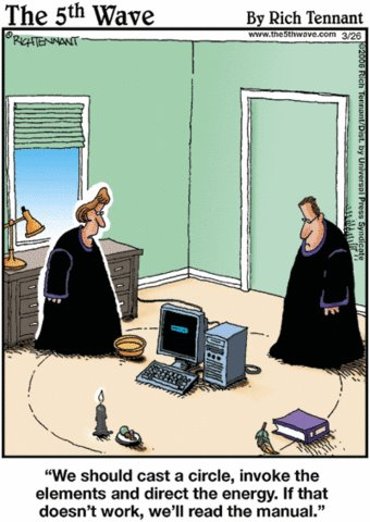 How Witches Troubleshoot Their PC's...