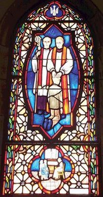 Bad Stained Glass Window...seen in a Catholic Church...