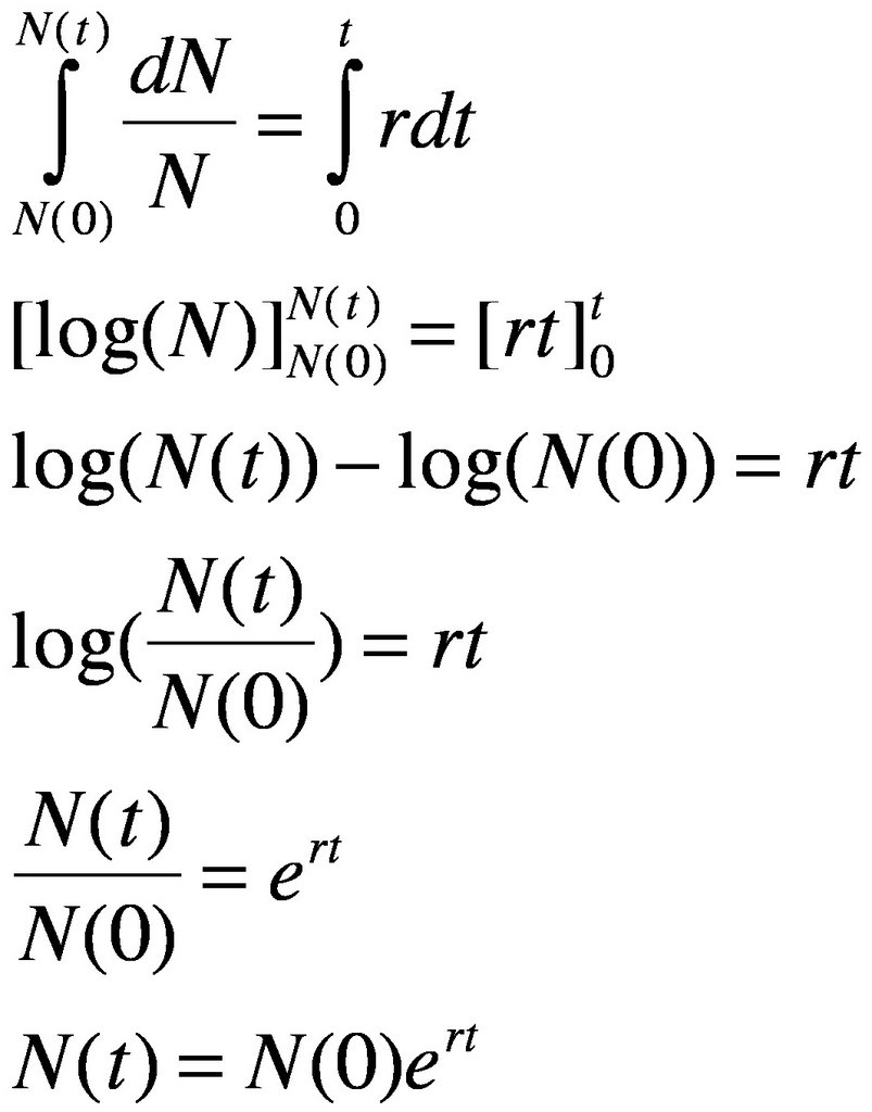 Exponential Equation Equation for exponential