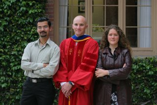 Animesh, Zack and Marybeth at Graduation 2006