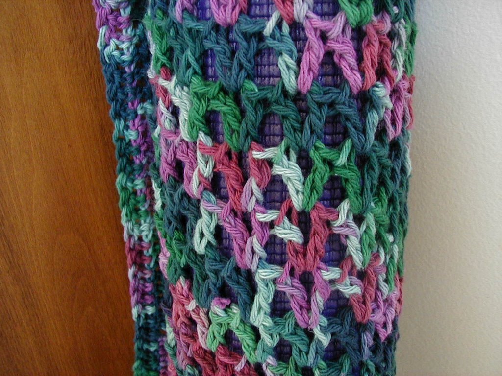 HAPPY NEEDLE!: Crocheted Yoga Mat Bag--Pics and pattern