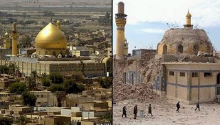 The Al Askari mosque, before and after