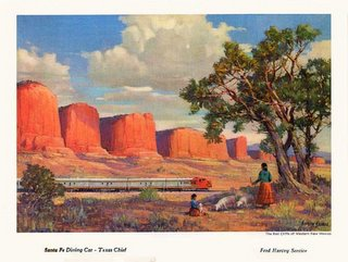 Santa Fe Railroad Fred Harvey menu