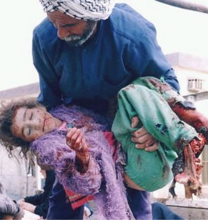 Iraqi girl killed during the Shock and Awe campaign