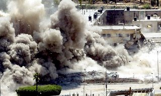 The Palestinian Authority Headquarters in Nablus, attacked by Israeli forces July 21, 2006