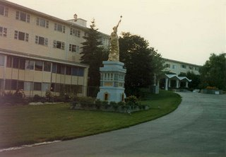 This is the South Fallsburg ashram as it looked in 1982. It is the former Gilbert's Hotel.