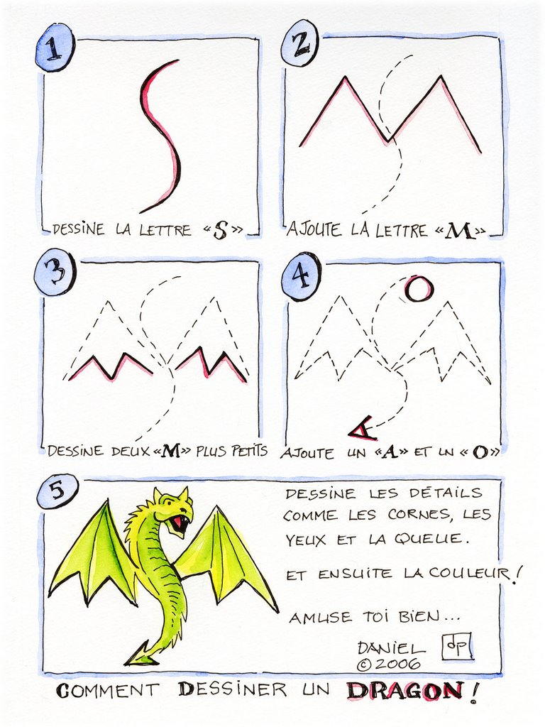 Les dessins de daniel comment dessiner un dragon how to - Dessiner dragon ...