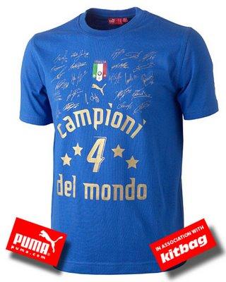 Acquista la maglia ITALIA CAMPIONI DEL MONDO N.4 EDIZIONE LIMITATA con le firme dei giocatori