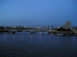 A night view from the south bank of the Thames.