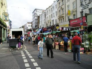 Portobello Market, Saturday morning.