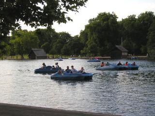 Boats on the Serpentine.