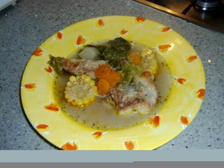 Chupe de pescado ecuatoriano