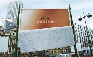 veet peeling billboard