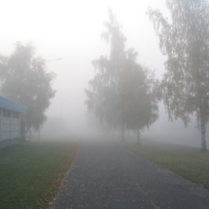 Thich fog in October 2005 in Helsinki.