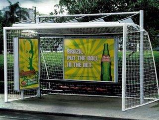 Calcio mania advertising per il Brasile