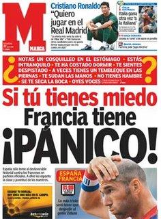 Se tu tens medo, a França tem pânico