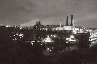 photo paysage urbain, angleur et la centrale thermo-electrique, renory, ougrée, copyright dominique houcmant, goldo graphisme