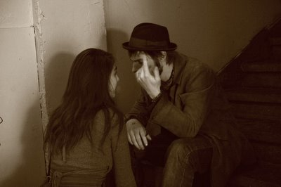 pict, couple, nuit, chapeau, discussion, photo, dominique, houcmant, aka goldo graphisme