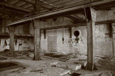 photo charbonnage du Hasard à Cheratte, salle des machines, copyright dominique houcmant, goldo graphisme