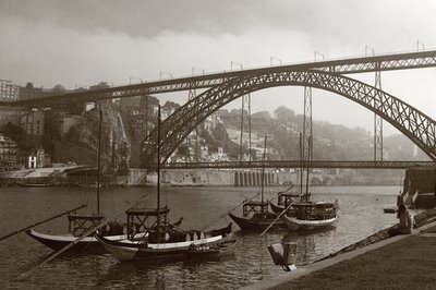 foto porto, douro e ponte luis I, cais do barcos rabelos, photo dominique houcmant, goldo graphisme