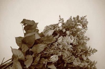 Bonheur fané, cheveux au vent, Baisers volés, rêves mouvants, Que reste-t-il de tout cela, Dites-le-moi, un bouquet de fleurs sechées